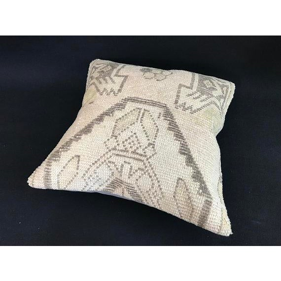 1960's Oushak Antique Hanmade Pillow Case For Sale - Image 9 of 11