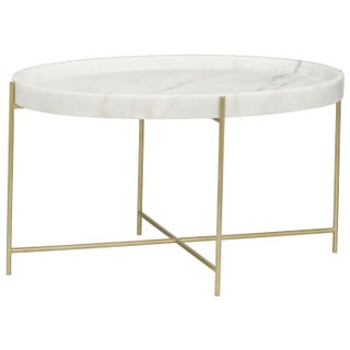 Che Cocktail Table, Antique Brass, Metal and Stone Preview