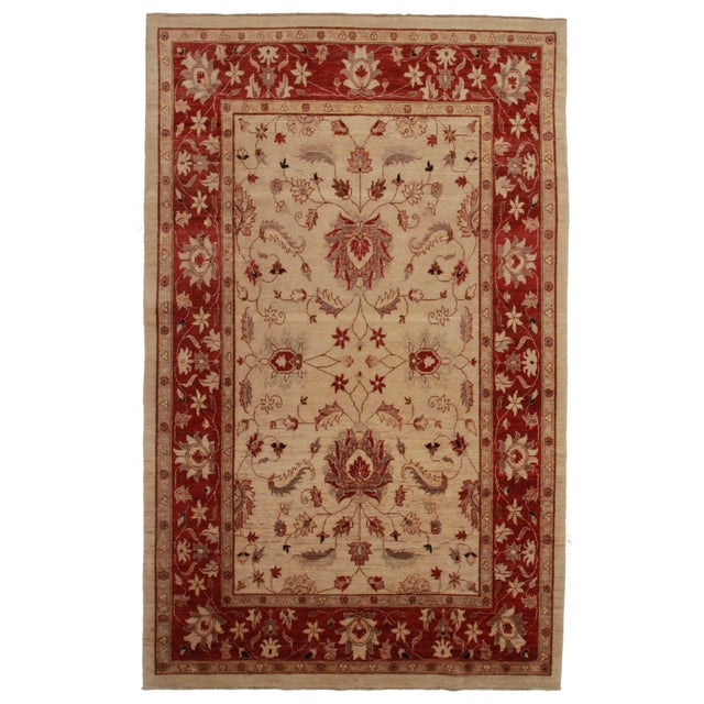 Peshawar Hand-Knotted Wool Rug - Image 1 of 2