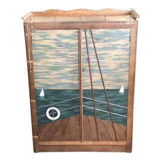 Nautical Compactum Wardrobe For Sale