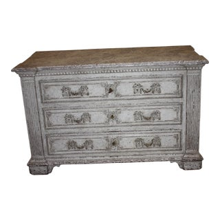 19th Century French Painted Commode For Sale