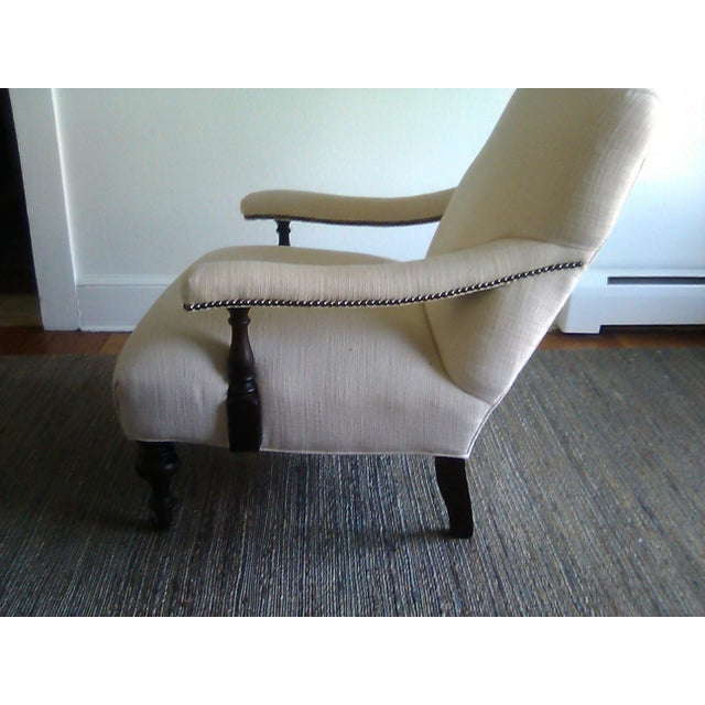White Lillian August Custom Made Lee Industry Fireside Lounge Chair For Sale - Image 8 of 10
