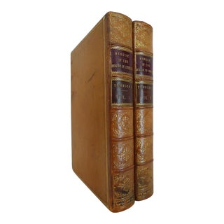Mid 19th Century Decorative Leather Volumes, W. Charles Townsend's Memoirs of the House of Commons - 2 Books For Sale