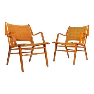 Peter Hvidt & Orla Møllgaard Nielsen Ax Armchairs for Fritz Hansen For Sale