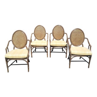 McGuire Louis XVI Cane Seat Chairs - Set of 4 For Sale