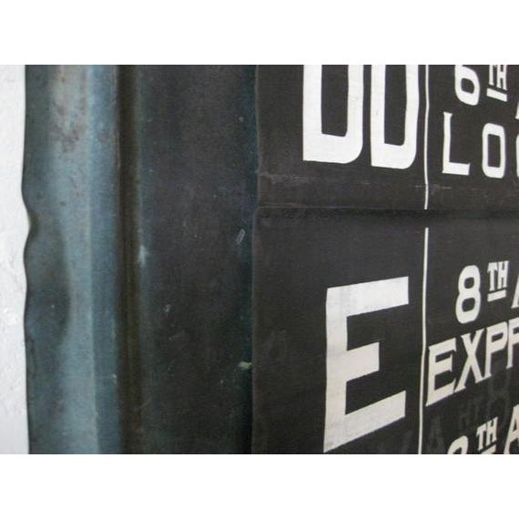 Mid-Century Modern NYC Complete MTA Destination Canvas Scroll Sign For Sale - Image 3 of 8