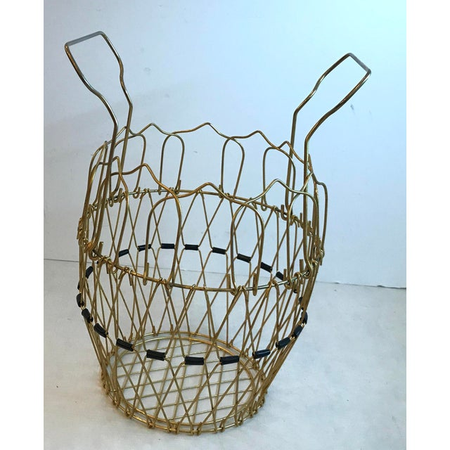 Gold metal mid Century basket that can be shaped any number of ways!