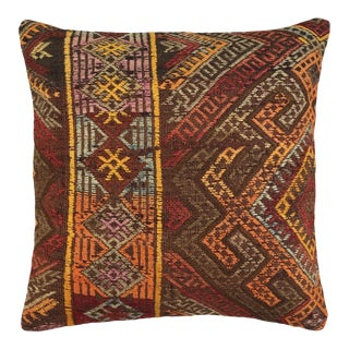 """Reclaimed Rustic Kilim Pillow 