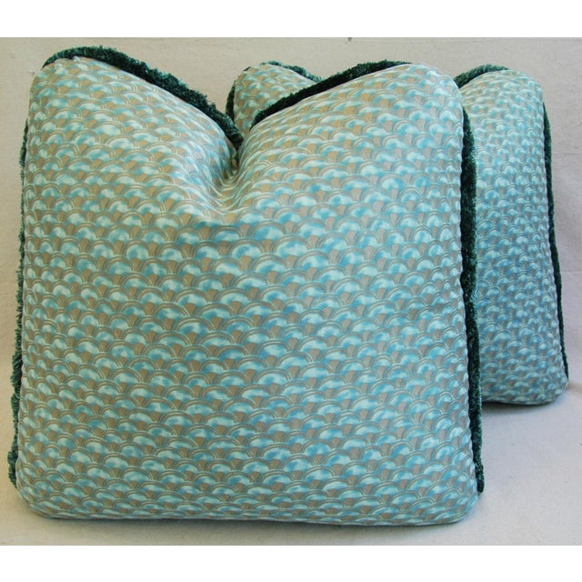 Cotton Designer Italian Mariano Fortuny Papiro Feather/Down Pillows - a Pair For Sale - Image 7 of 11