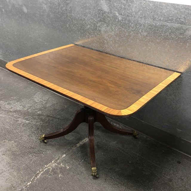Vintage Queen Ann Convertible Pedetstal Table For Sale - Image 9 of 13