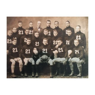Reproduction Vintage Sports Photograph Football