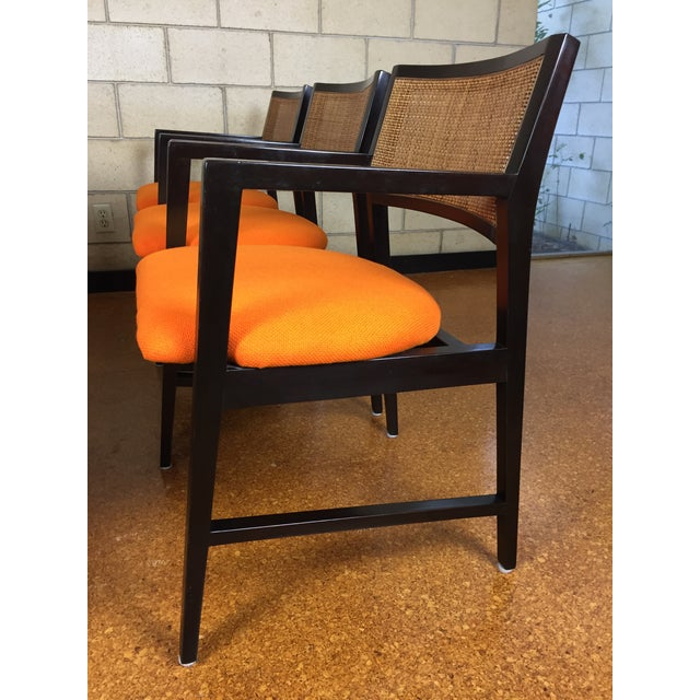 Edward Wormley for Dunbar Dining Arm Chairs - Set of 6 - Image 4 of 11
