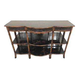 Theodore Alexander Chinoiserie Faux Bamboo Console For Sale