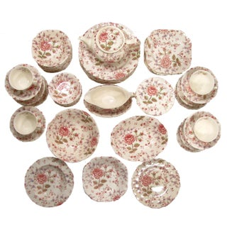 Vintage English Rose Chintz China Service - Set of 75 Preview