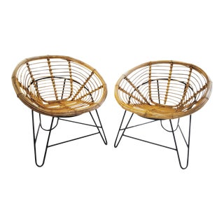Pair of Lovely and Comfy Rattan Armchairs