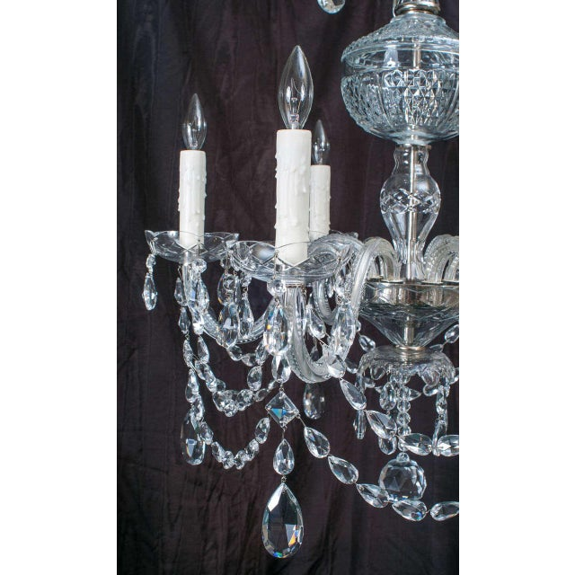 Neoclassical Style Crystal Chandelier For Sale - Image 4 of 11