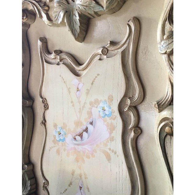 Large Rare Romantic Antique Cream French Rococo Ornate Armoire Fancy Wardrobe W/ Mirrors For Sale In New York - Image 6 of 9