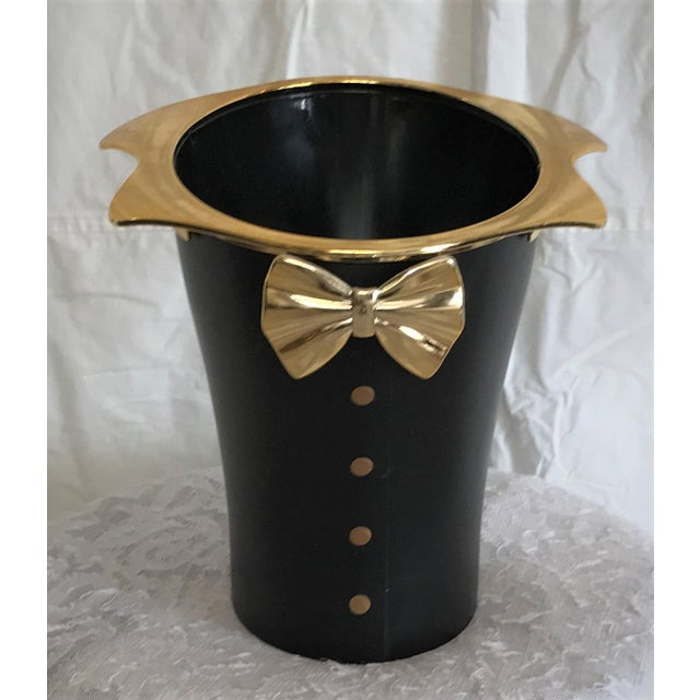 Hollywood glam hugs your Veuve Cliquot when you chill it in this ice bucket designed to mimic a tuxedo. Rendered in hard...