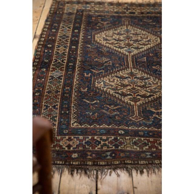 "Blue Vintage Qashqai Rug - 3'8"" x 5'6"" For Sale - Image 8 of 13"