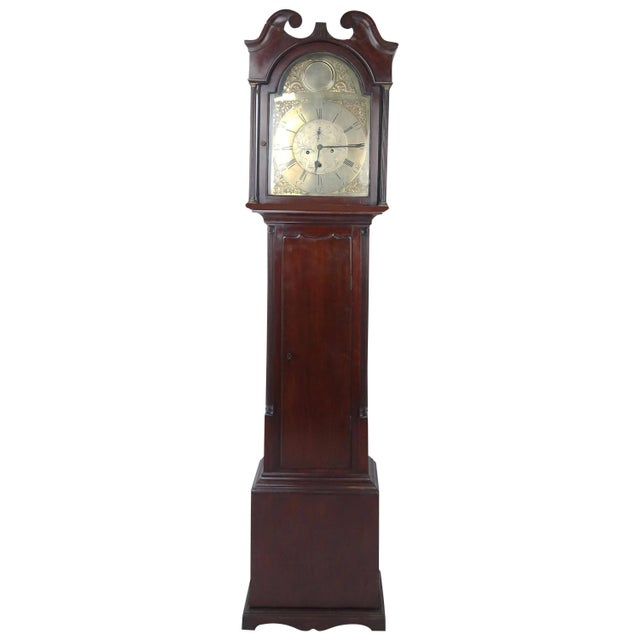 Metal Mid-18th Century Scottish Case Clock by Robert Knox For Sale - Image 7 of 7