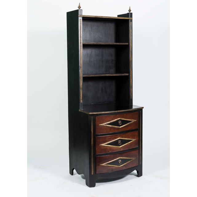 Vintage Chest Drawers With Bookcase Shelving - a Pair - Image 3 of 9