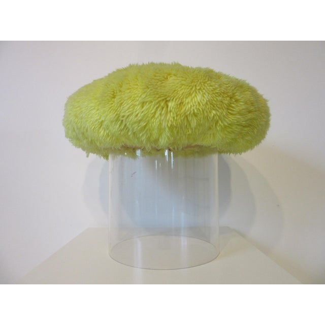 Lucite Lucite Vanity Stool Used on the Phil Donahue Show For Sale - Image 7 of 7