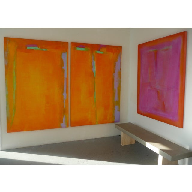 Abstract Kat Evans Vibrant Abstract Painting For Sale - Image 3 of 7