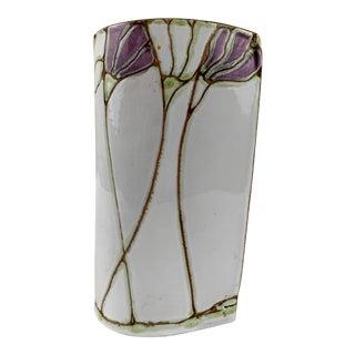Art Nouveau Style Ceramic Vase For Sale