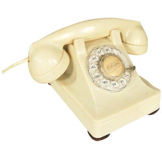 White 1930s Glamour Bakelite Telephone by Bell Systems For Sale
