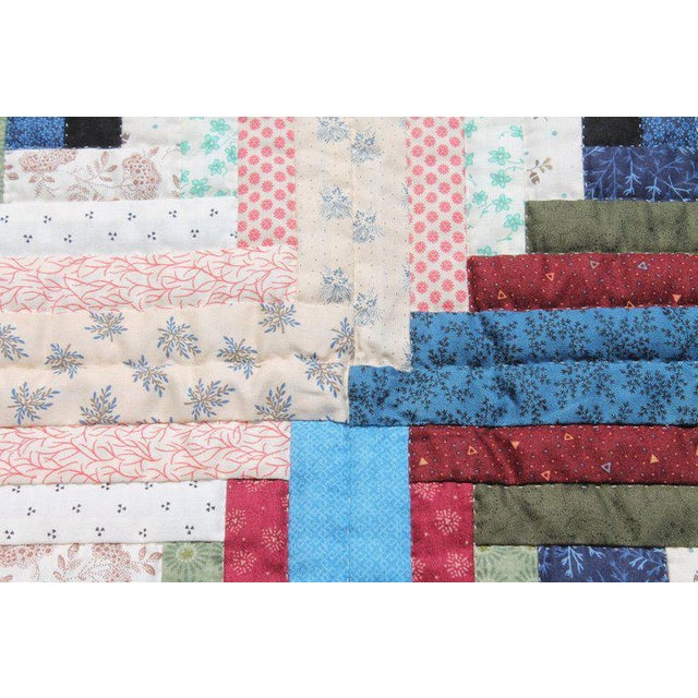 Log Cabin Crib Quilt From Pennsylvania For Sale - Image 4 of 9