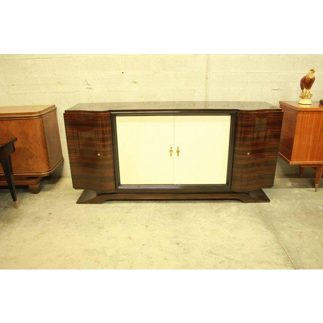 Maurice Rinck 1940s Art Deco Maurice Rinck Macassar Sideboard For Sale - Image 4 of 12