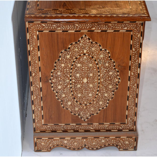 1990s Anglo Indian Bone Inlay Cabinet For Sale - Image 5 of 6