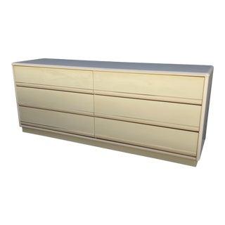 Postmodern 80s Laminate & Lacquer Lowboy Dresser For Sale
