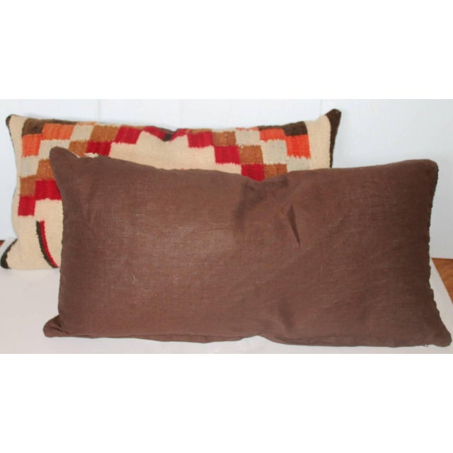 Navajo Indian Weaving Bolster Pillows For Sale - Image 4 of 4