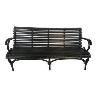 Vintage Wooden Patio Bench For Sale