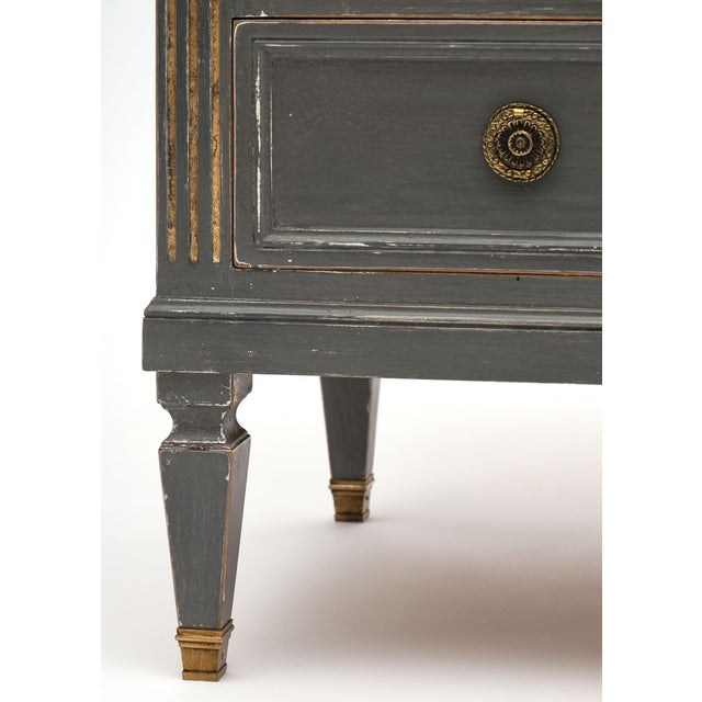 Antique Louis XVI Style Gray Painted Chest For Sale - Image 9 of 10