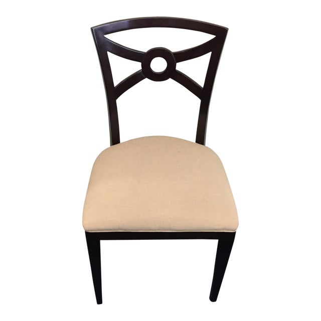 Beige & Espresso Side Chair - Image 1 of 8