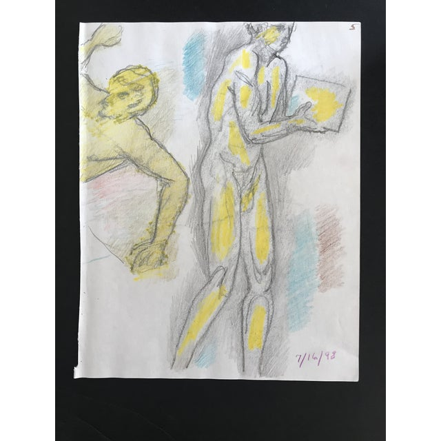 Figurative Male Nude Draw by James Bone, C. 1990s For Sale - Image 3 of 3