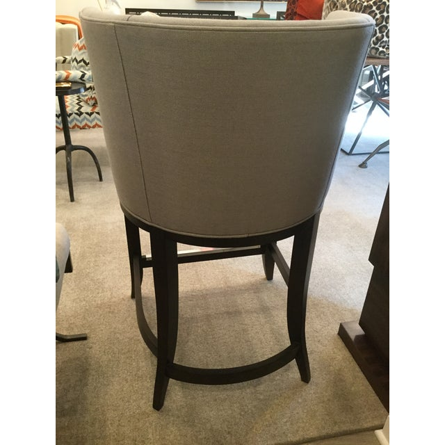 Admirable Kravet Monaco Grey Linen Counter Stool Ocoug Best Dining Table And Chair Ideas Images Ocougorg
