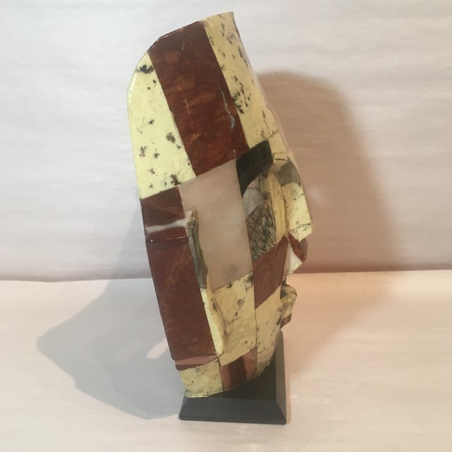 Mid-Century Handmade Mother of Pearl Mask For Sale - Image 5 of 9