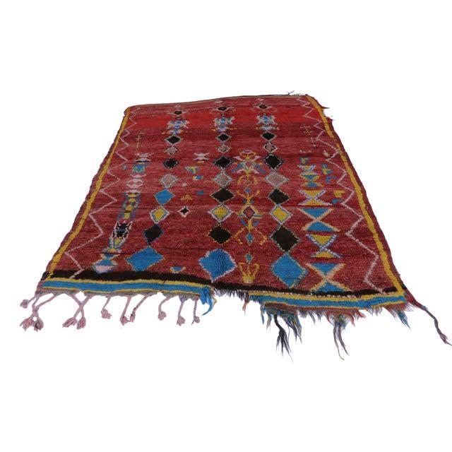 Islamic Vintage Berber Moroccan Rug For Sale - Image 3 of 4
