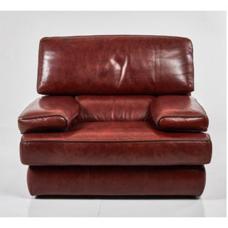 Saporiti Italia Leather Chair- Now Just One! For Sale