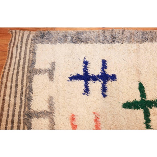 Vintage Moroccan Rug For Sale In New York - Image 6 of 11
