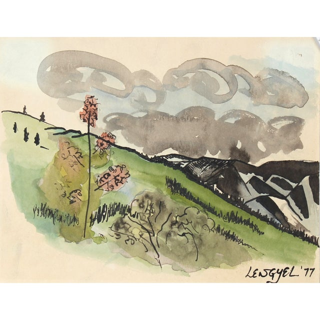Mid-Century Alaska Landscape Watercolor Painting - Image 1 of 2