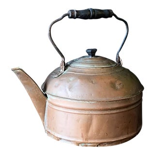 1891 Solid Copper Tea Kettle For Sale