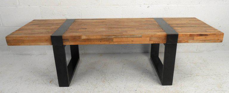 Amazing Mid Century Modern Style Industrial Coffee Table Chairish