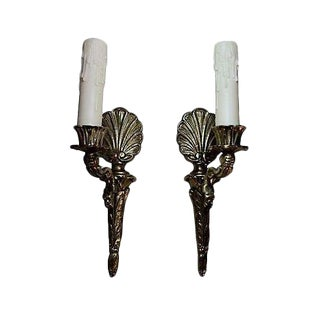 Gustavian Style Shell Sconces - A Pair