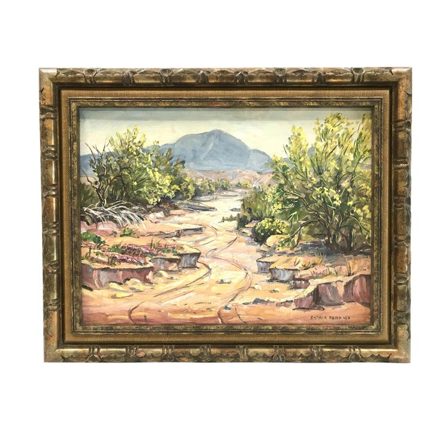 """""""Pala-Verde Tree In Bloom"""" Landscape Painting For Sale"""