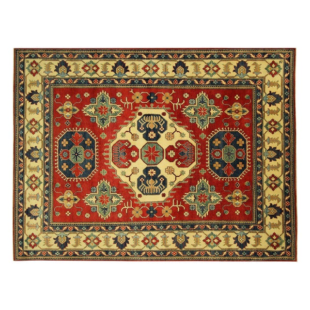 Traditional Super Kazak Rug Red- 8' x 11' - Image 1 of 11