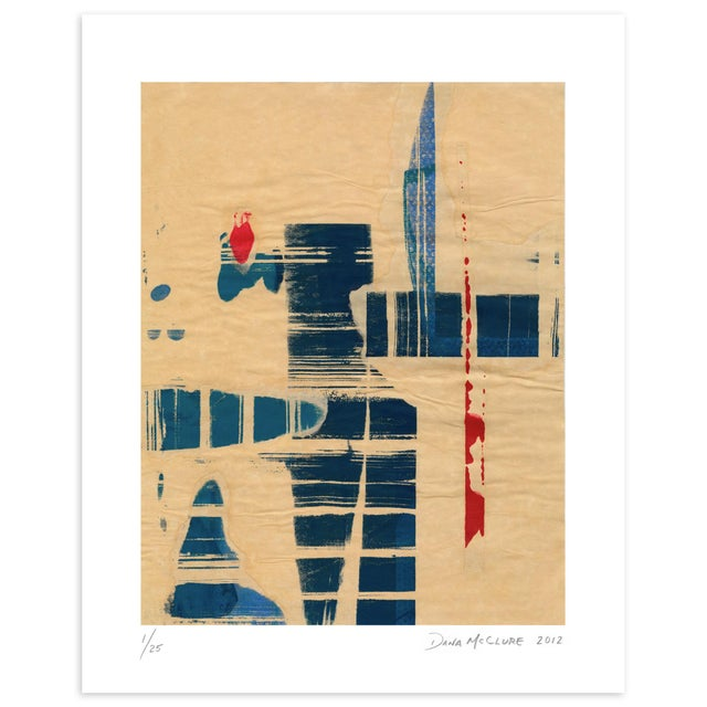 Modern 'Red Meets Blue #8' Print - Image 2 of 4
